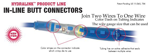 Hydralink Sealed Multiple Wire Connectors Usa Made