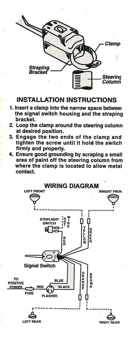 Wiring Diagram For Indicators On Cars : Turn signal switch
