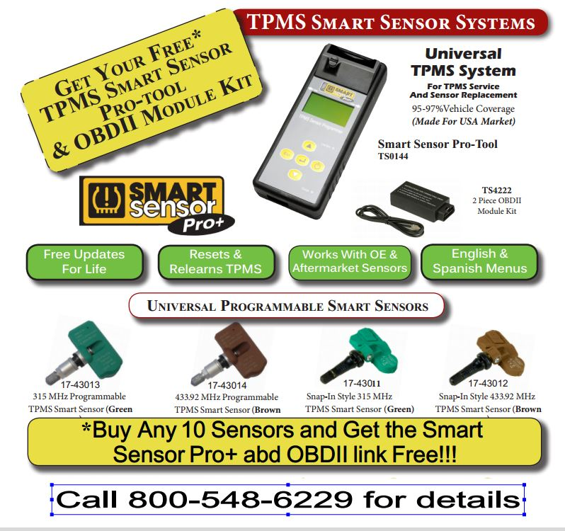 TPMS Sensors For Cars & Trucks