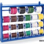 10-22 GA Primary Wire Assortment, (24) 100ft rolls with Steel Wire Rack