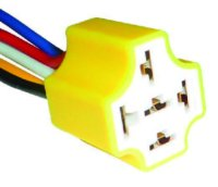 High heat Ceramic 4/5 pin relay harness Rated at 300 dg.  Wire Relay Harness on